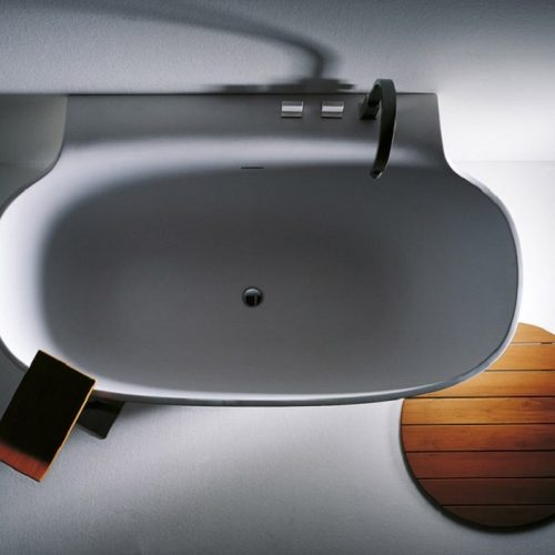 Falper Scoop Cristalplant Freestanding Bath