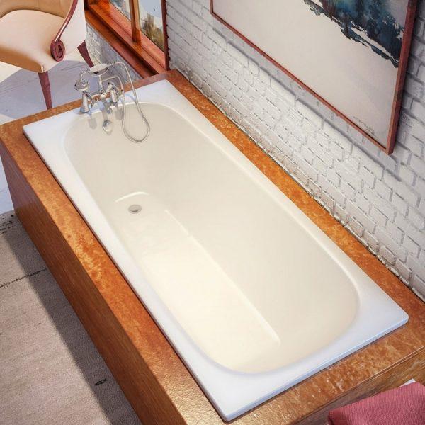 Bette Form Enamel Steel Built-In Bathtub