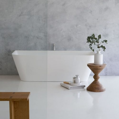 Clearwater Patinato Square Freestanding Composite Stone Bath