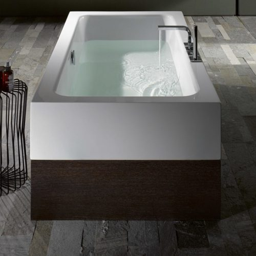 Bette One Highline Enamel Steel Freestanding Bath