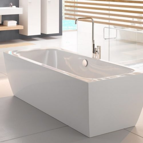 Bette Cubo Silhouette Enamel Steel Freestanding Bathtub