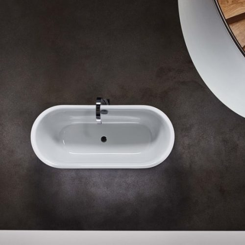 Bette Lux Oval Silhouette Enamel Steel Freestanding Bathtub