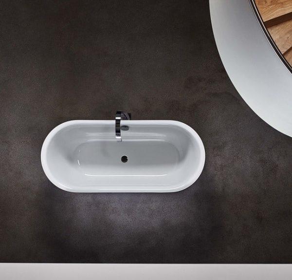 Bette Lux Oval Silhouette Enamel Steel Freestanding Bathtub