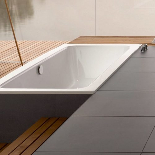 Bette One Built-In Glazed Titanium Steel Bathtub