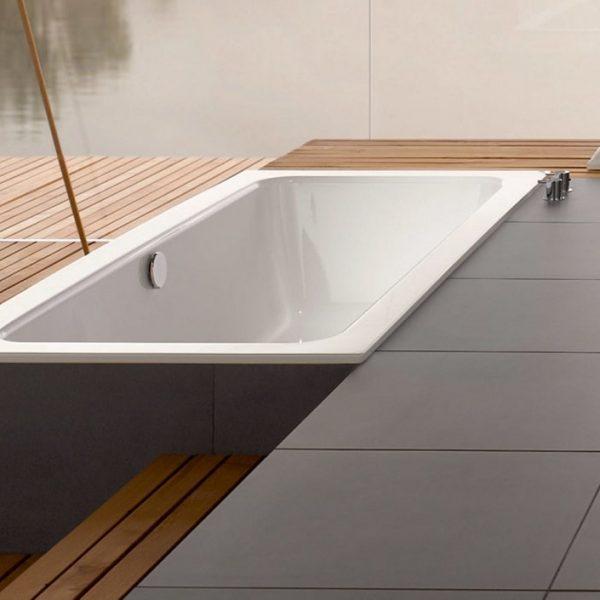 Bette One Built-In Glazed Titanium Steel Bathtub