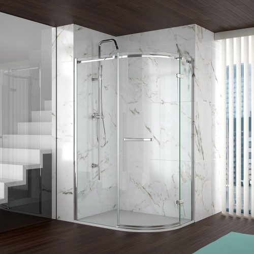 Merlyn 8 Series Frameless Door Offset Shower Quadrant Shower Enclosure