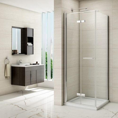 Merlyn 8 Series Frameless Hinged Bifold Door Shower Enclosure