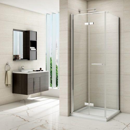 Merlyn 8 Series Frameless Hinged Bifold Door Shower Enclosure