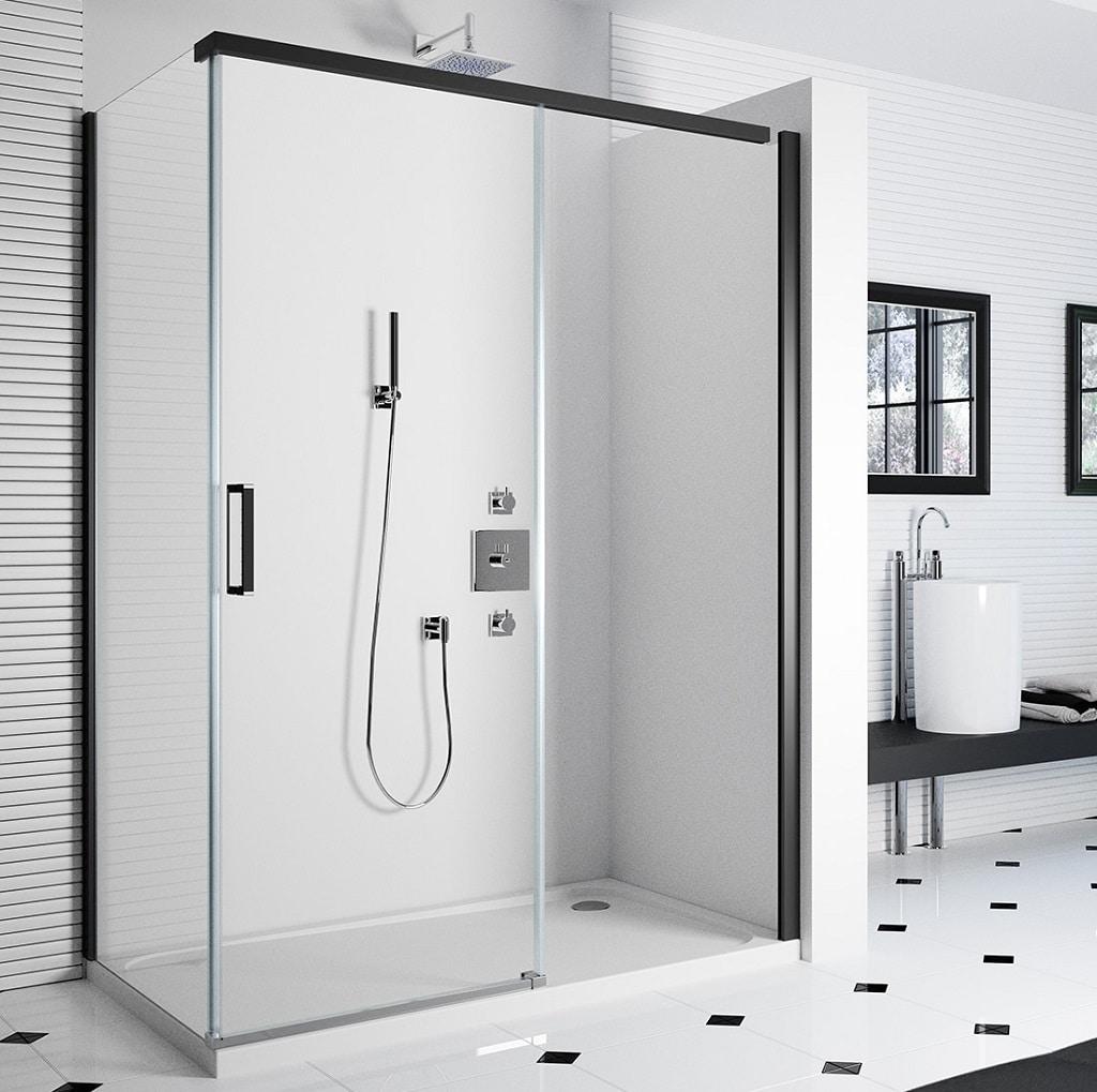 Merlyn 8 Series Frameless Sliding Door Shower Enclosure Bathhouse