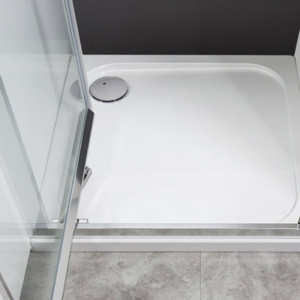 Simpson - Square 45mm Stone Resin Shower Tray