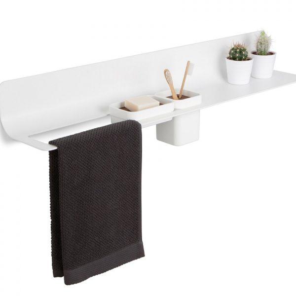 Lineabeta Curvà - Towel Holder & Accessories Bar with Shelf