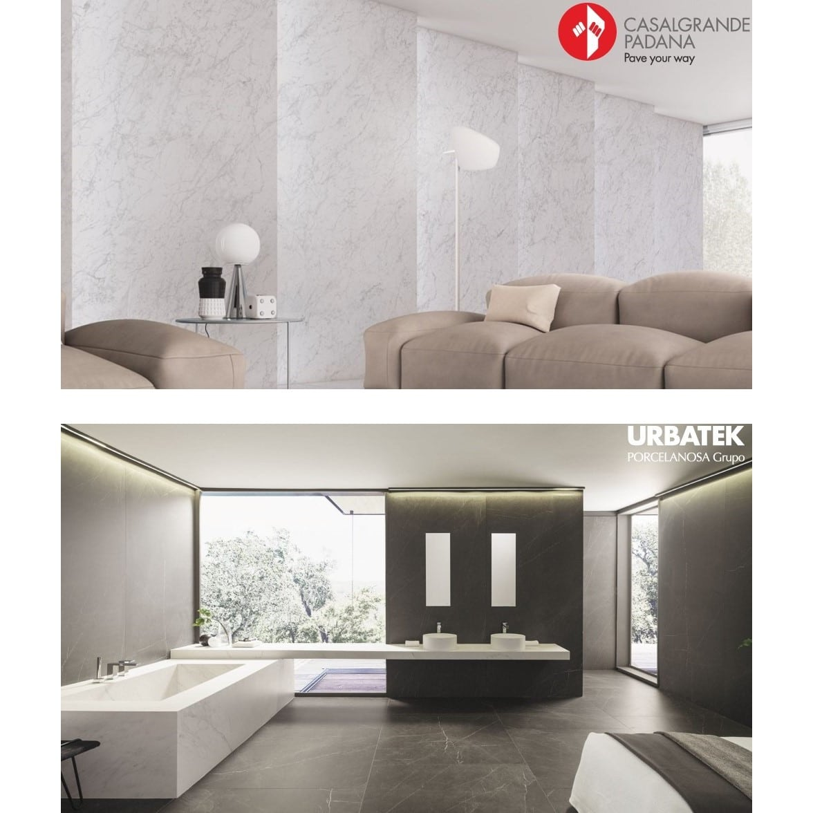 Bathrooms In Focus - Large Format Tile - Kontinua - XLight