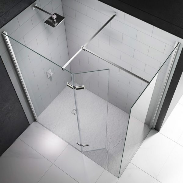 Series Walk In With Hinged Swivel Panel