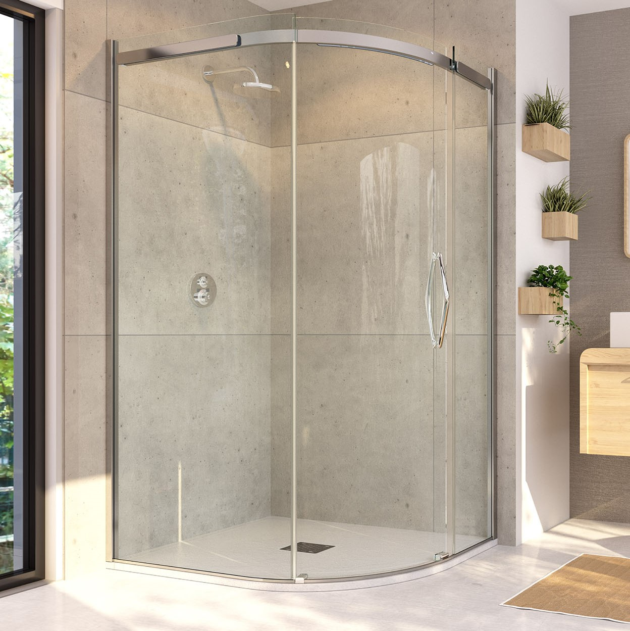 Flair Oro Sliding Door Quadrant Shower