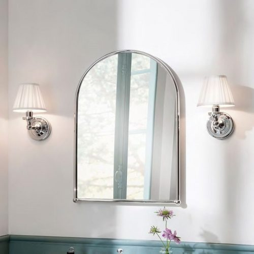 Round Wall Light with Pleated Shade